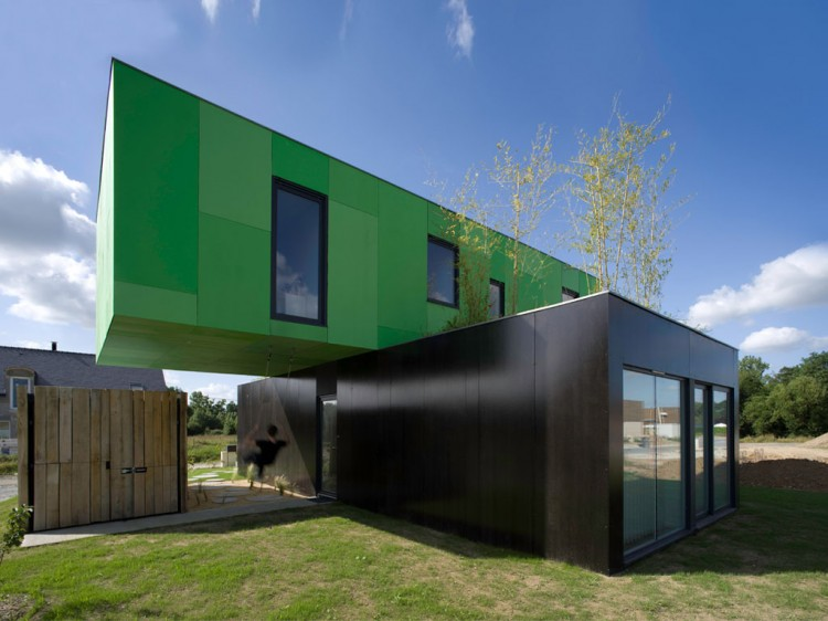 Crossbox by CG Architects - Pont Péan, France - Shipping Container ...