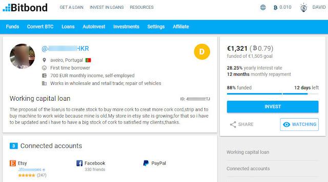 loan bitbond bitcoin euro empréstimo dinheiro português dav7