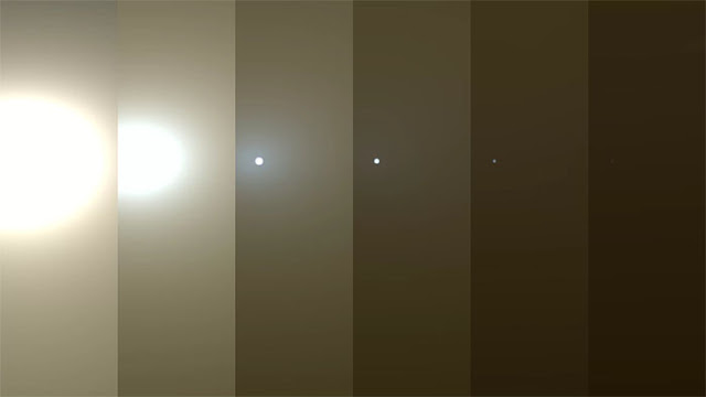 simulação da atmosfera de Marte sobre a sonda Opportunity - NASA