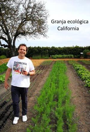 Txomin en granja ecologica en California