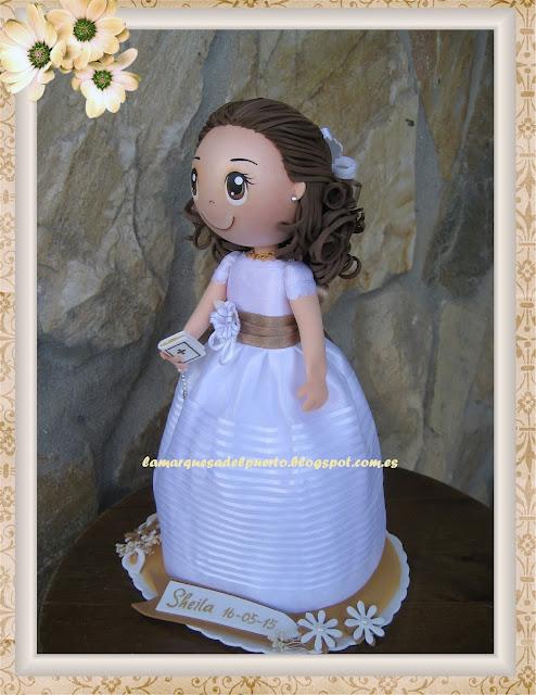 """muñeca fofucha de primera comunión por encargo"""