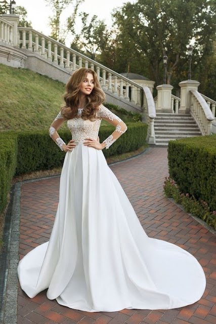 White laces wedding Dress