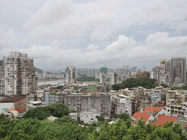 View of Macau and Zhuhai facing northwest from Monte Fort