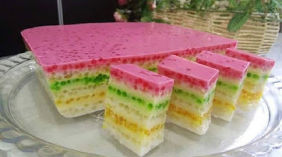Puding Sagu Pelangi Simple