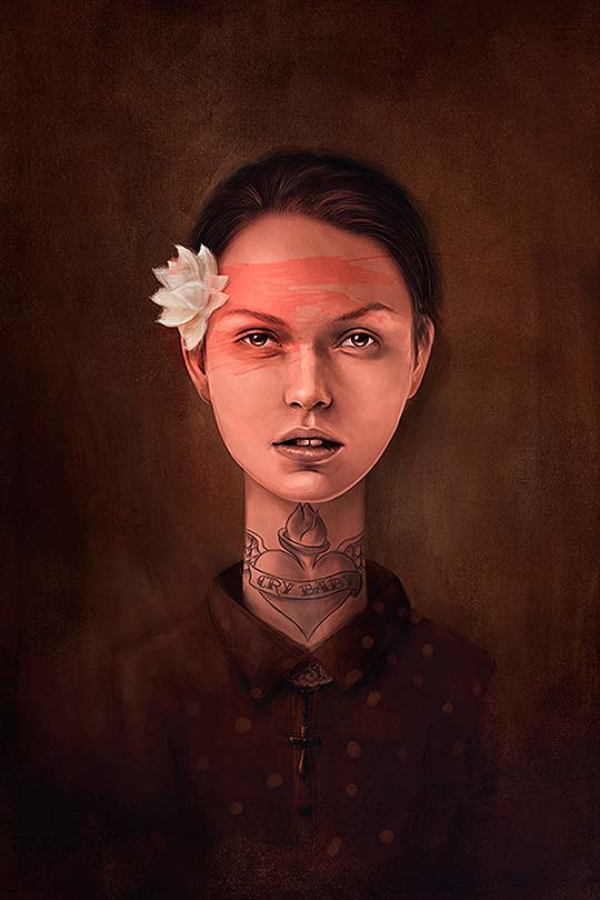 Ilustración y retratos emotivos de Krisztian Tejfel