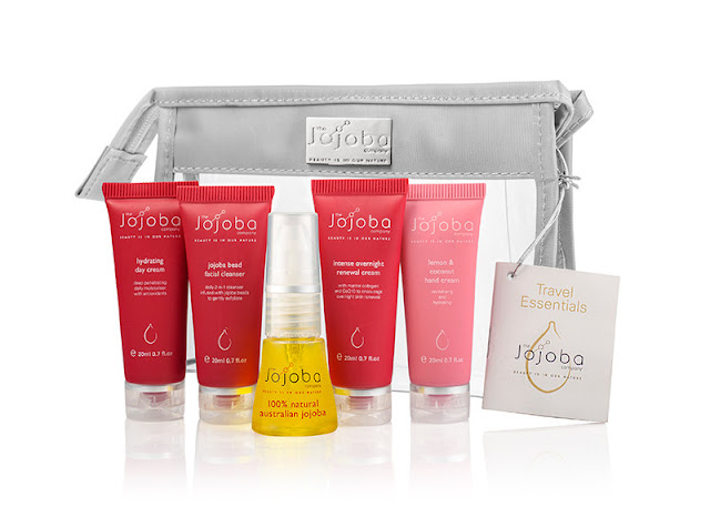 jojoba oil travel set