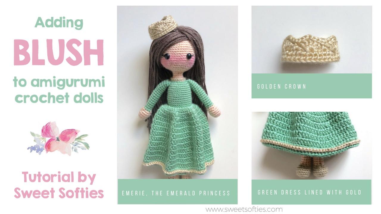 ac5bc9be9 Adding Blush to Amigurumi Crochet Dolls