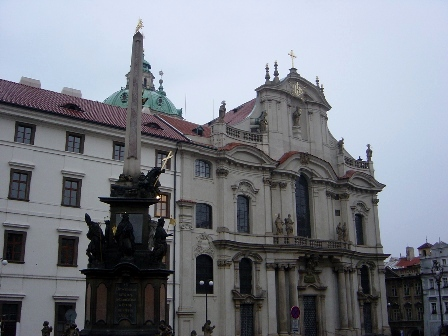 艾瑞克的旅行空間: 布拉格小區的散步筆記-2 (小區廣場,聖尼古拉教堂,華倫斯坦宮)