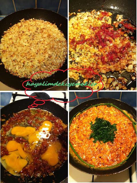 Soğanlı,Salçalı Yumurta Tarifi,degisik kahvaltilik tarifler resimli ,degisik yumurta tarifleri