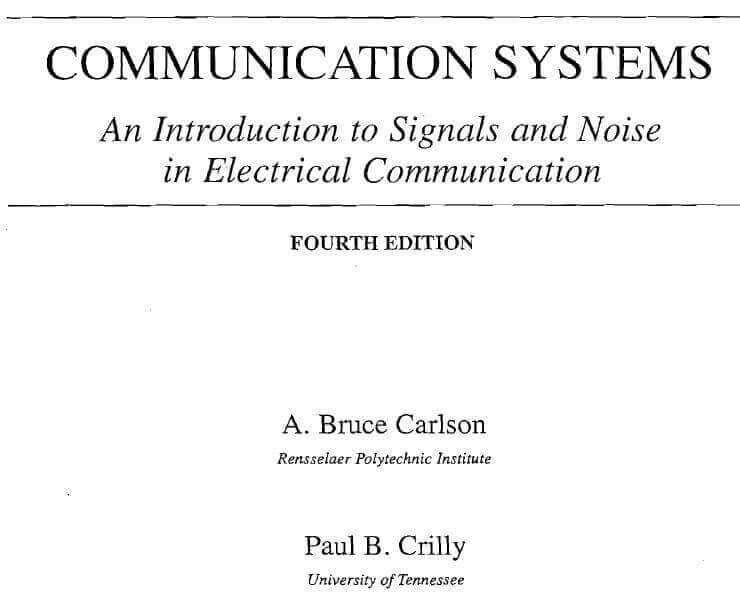 Communication, Systems ,An Introduction to Signals, and Noise ,in Electrical ,Communication