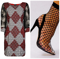 what to wear with fishnet heels