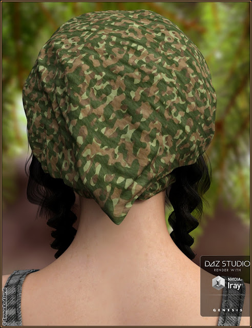 Shandi Hair for Genesis 3 Female