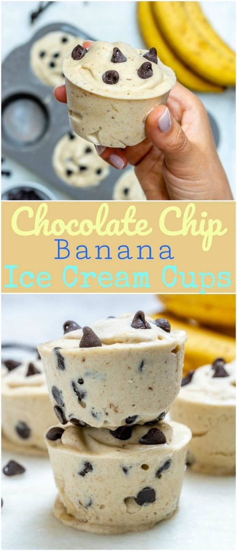 "Chocolate Chip Banana ""Ice Cream"" Cups"