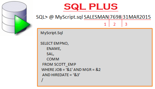 Passing parameters to sqlplus script in Oracle