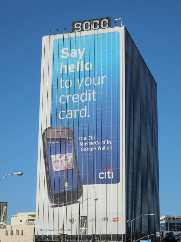 Citi Google wallet billboard