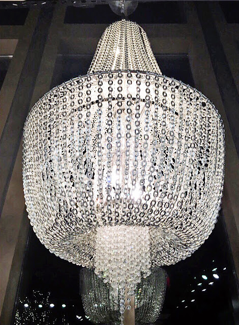 chandelier with lots of crystals