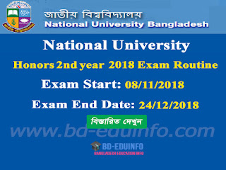 National University (NU) Honors 2018 2nd  years Honors Exam Routine