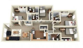 plan lantai rumah banglo setingkat