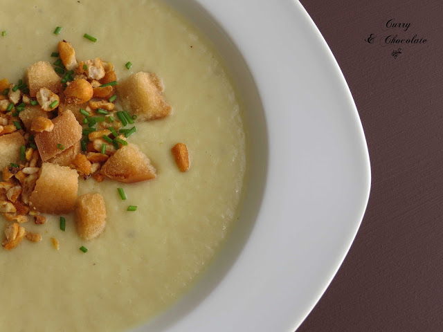 Crema de calabacín con puerro y manzana – Zucchini cream soup with leek and apple