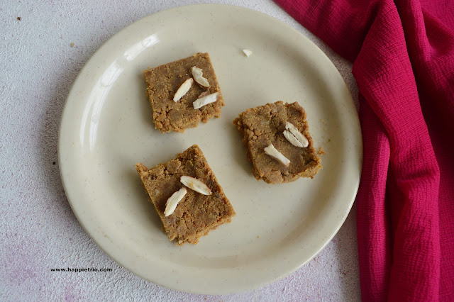 Wheat Flour Burfi Recipe | Atta Burfi
