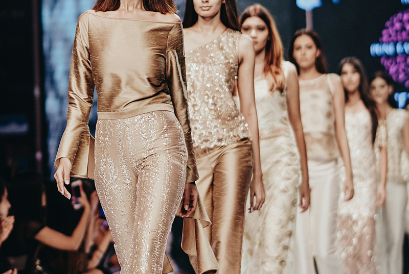 Gold fashion collection