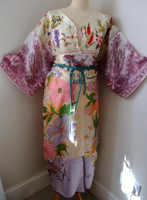 vintage scarf kimono by karen vallerius