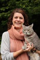 Portrait of Dr. Sarah Ellis with her cat