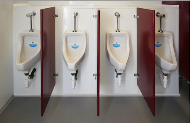 Inside Men's Urinals