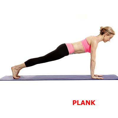 plank untuk perut dan lengan langsing