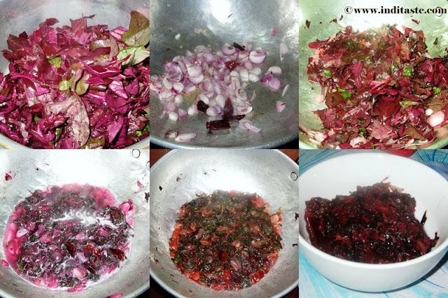 Red Spinach (Senkeerai Poriyal)
