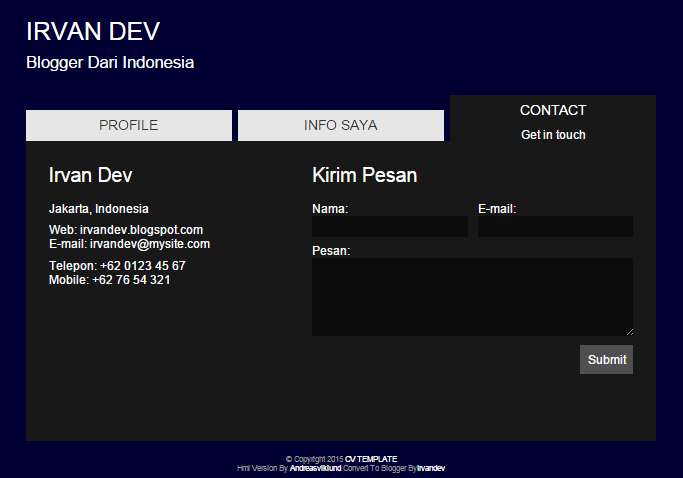 Contact Form Page