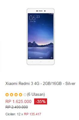 Xiaomi Redmi 3 4G - 2GB/16GB