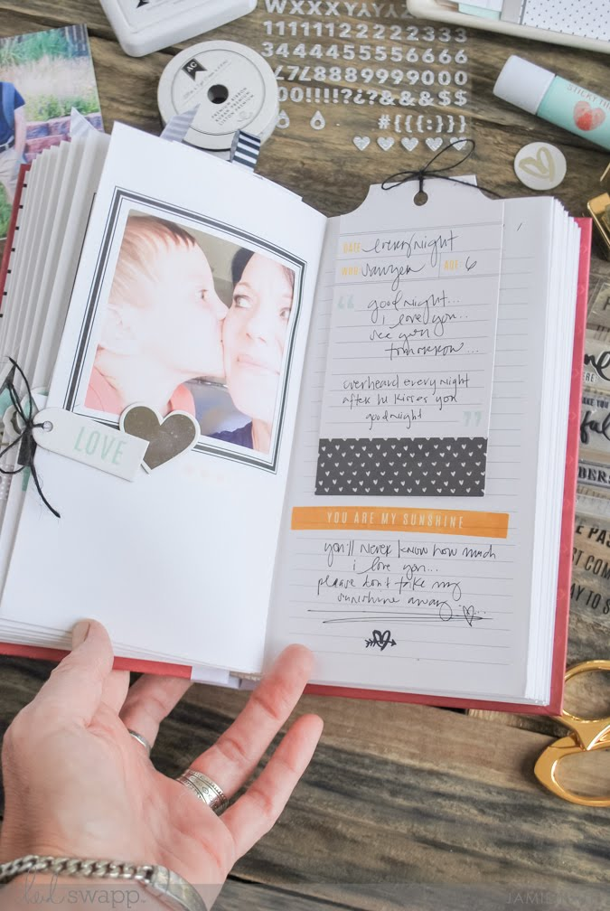 Save time. Keep memories. A beautiful way to document the Right Now by Jamie Pate. Photo Journal by Heidi Swapp  | @jamiepate for @heidiswapp