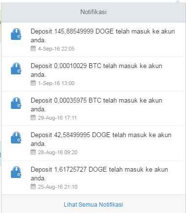 Proof of Payment / Withdraw