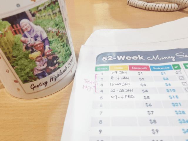 TABUNG SIMPANAN 52 MINGGU, WEEKLY MONEY SAVING CHALLENGE
