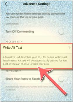 Cara Menggunakan Fitur Instagram Custom Alternative Text