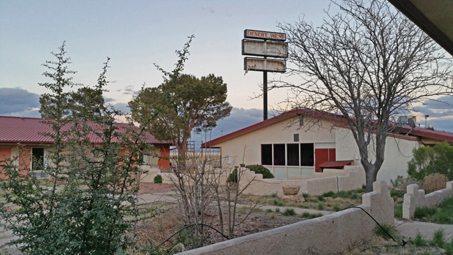 Abandoned Desert West Motel in Road Forks, New Mexico