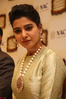 Samantha Ruth Prabhu in Cream Suit at Launch of NAC Jewelles Antique Exhibition 2.8.17 ~  Exclusive Celebrities Galleries 008.jpg