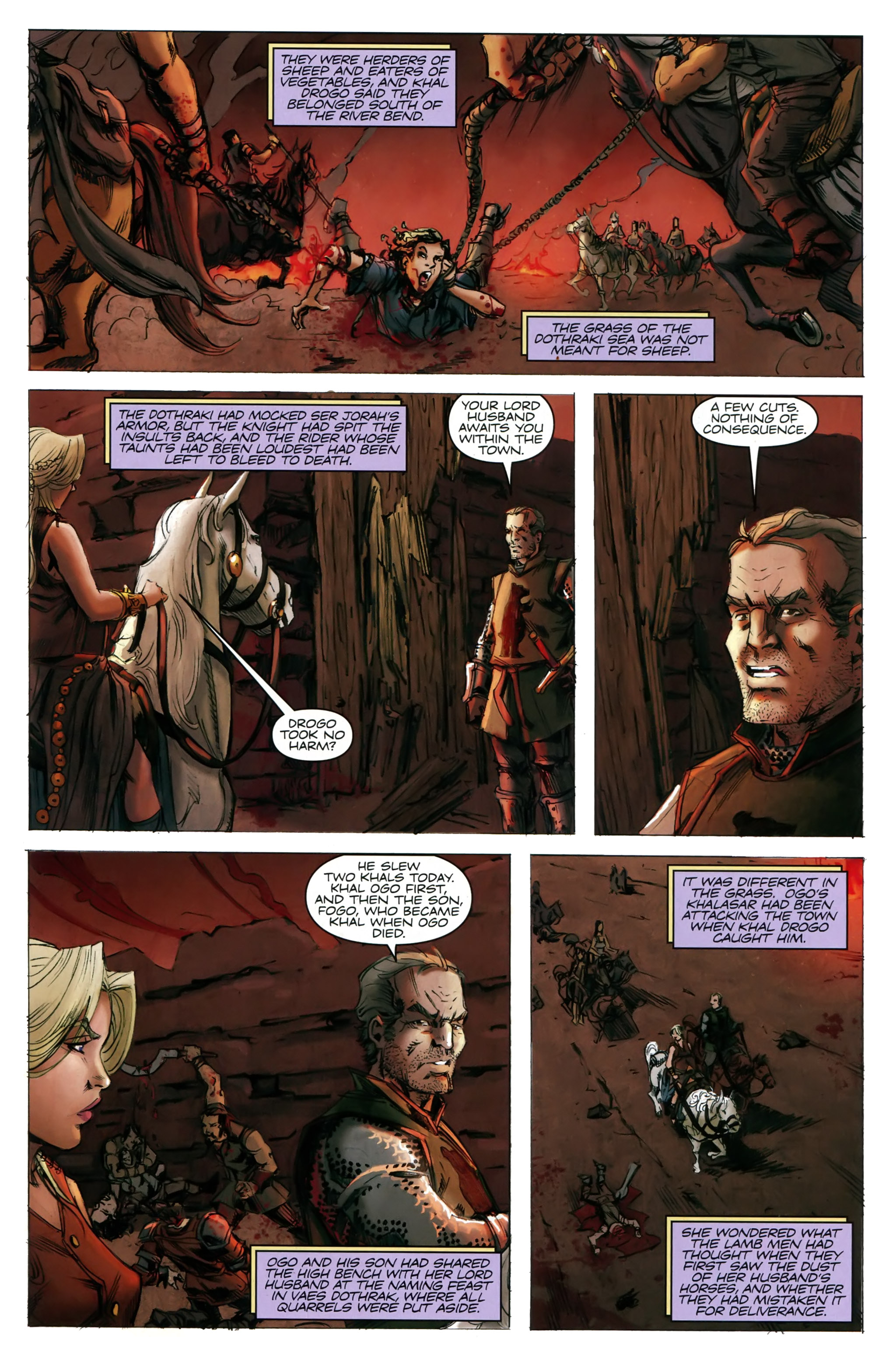 Read online A Game Of Thrones comic -  Issue #20 - 5