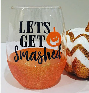 Pinterest Pumpking Wine Glass