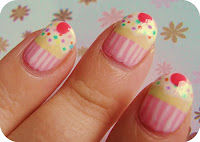 Cupcake Cute Nail Design