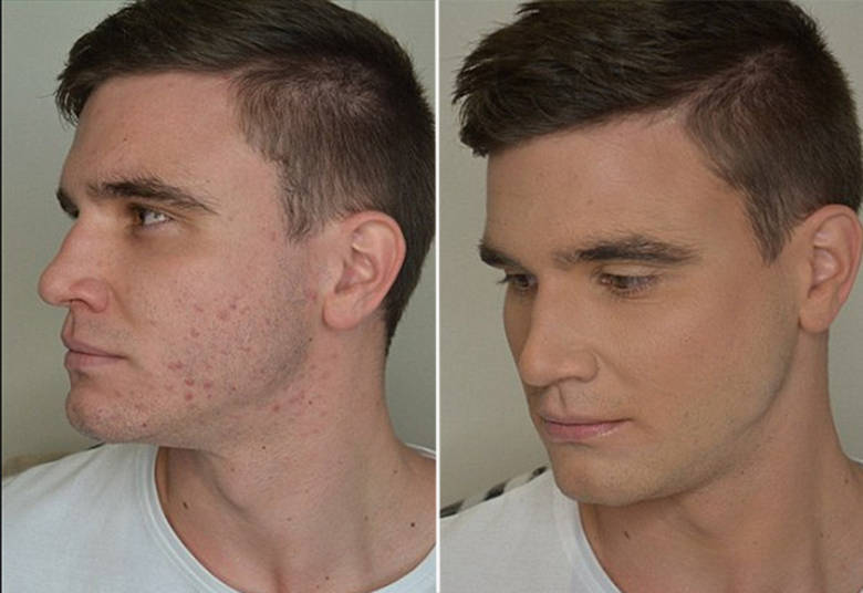 base para homem maquiar os olhos