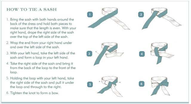 Tie Dye Diva Patterns: How to Tie a Sash Bow