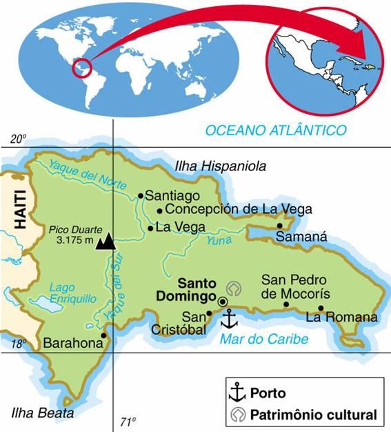 REPÚBLICA DOMINICANA - ASPECTOS GEOGRÁFICOS E SOCIAIS DA REPÚBLICA DOMINICANA