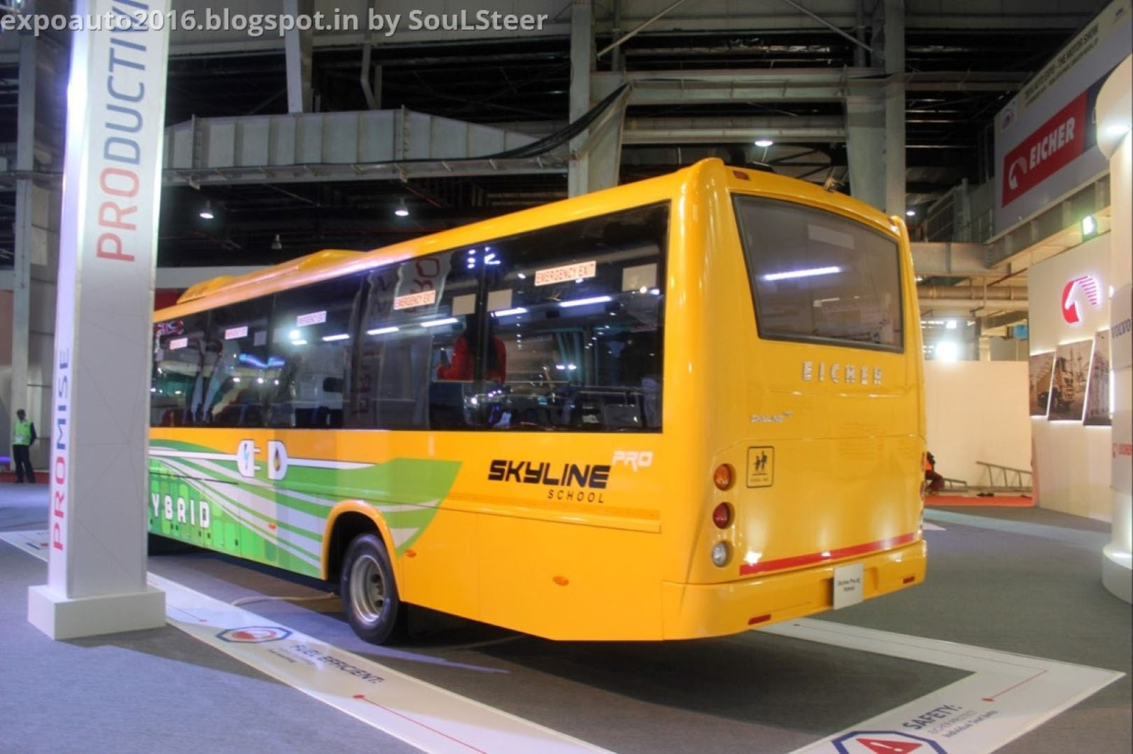 auto expo 2016 by soulsteer eicher skyline pro bus and hd