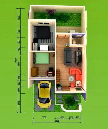 Gambar Desain Rumah Ukuran 7x12 Meter 2 Lantai  Contoh Sur