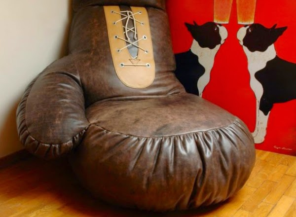 Leather Boxing Glove Chair Spicytec