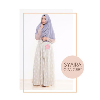 Gamis Amima Syaira Dress Giza Grey