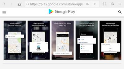 Aplikasi Uber di Google Play.