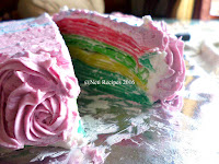 Resep Rainbow Crepes Cake